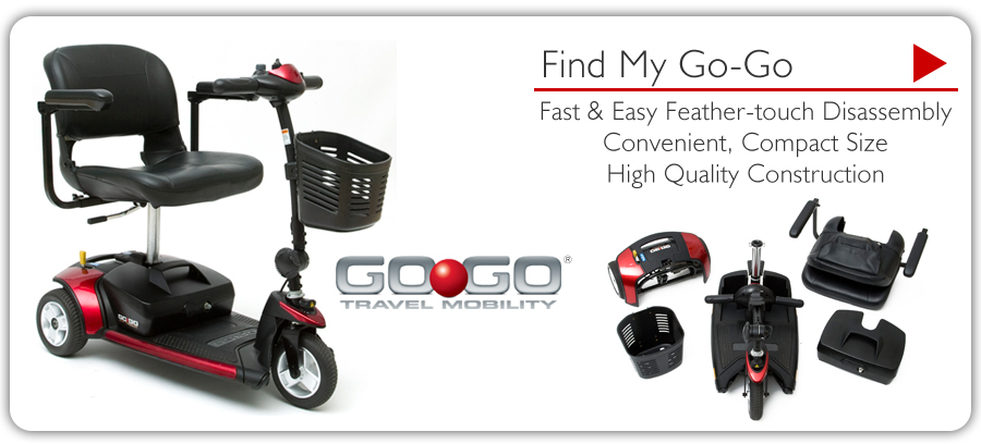 gogo scooter 3 wheel San Francisco Ca. handicap mobility three wheeled senior elderly chair