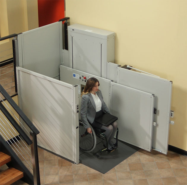 Bruno ada compliant commercial business wheelchair porchlift