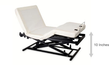 Orange Electric Hospital Bed