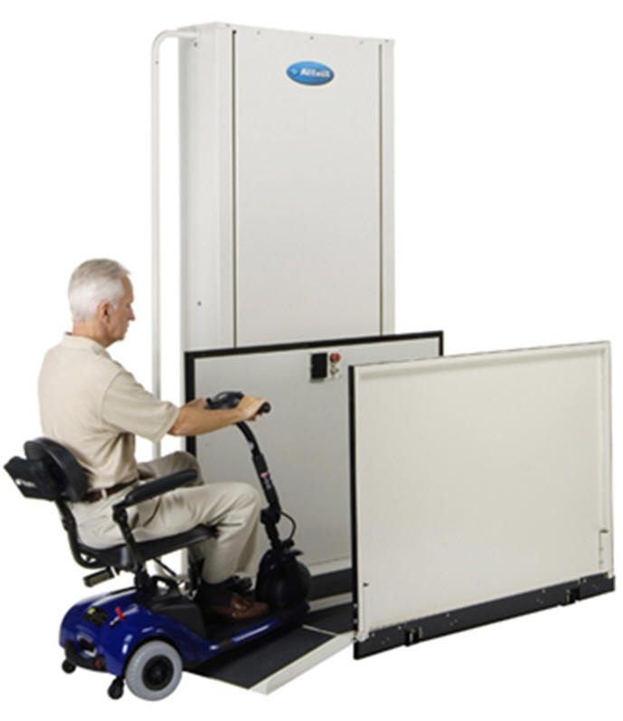 wheelchair elevator vpl vertical platform phoenix porch lift